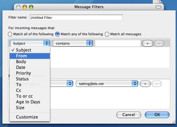 Blocking a sender in Mozilla Thunderbird